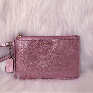 Sparkly Pink COACH Wristlet